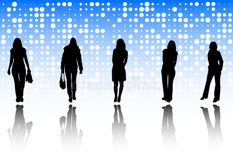 Fashion girls background royalty free stock images