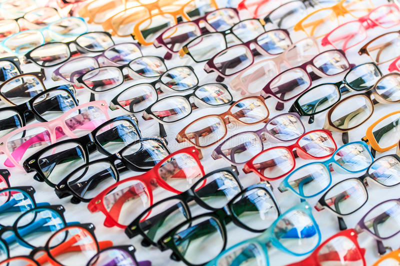 Fashion glasses. With completed lens or able to be changed the lens follow eyesight royalty free stock photography