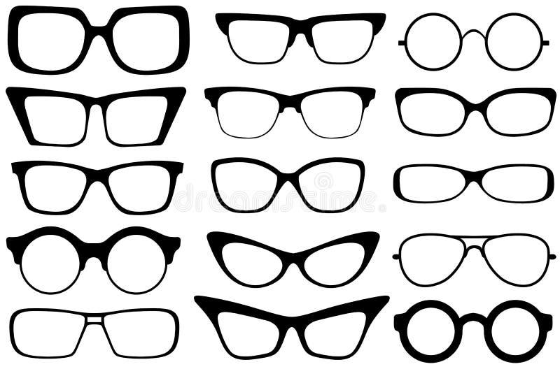 Fashion glasses. Set of modern fashion glasses. Vector illustration vector illustration