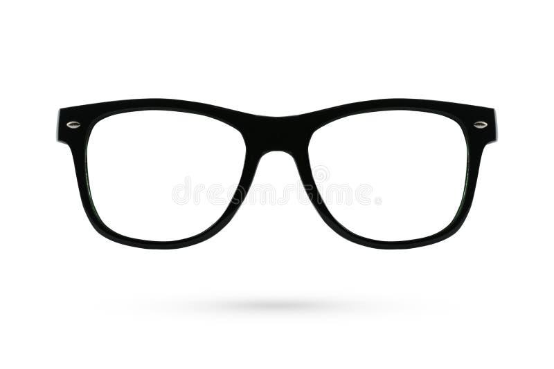 Fashion glasses style plastic-framed isolated on white background. royalty free stock photography