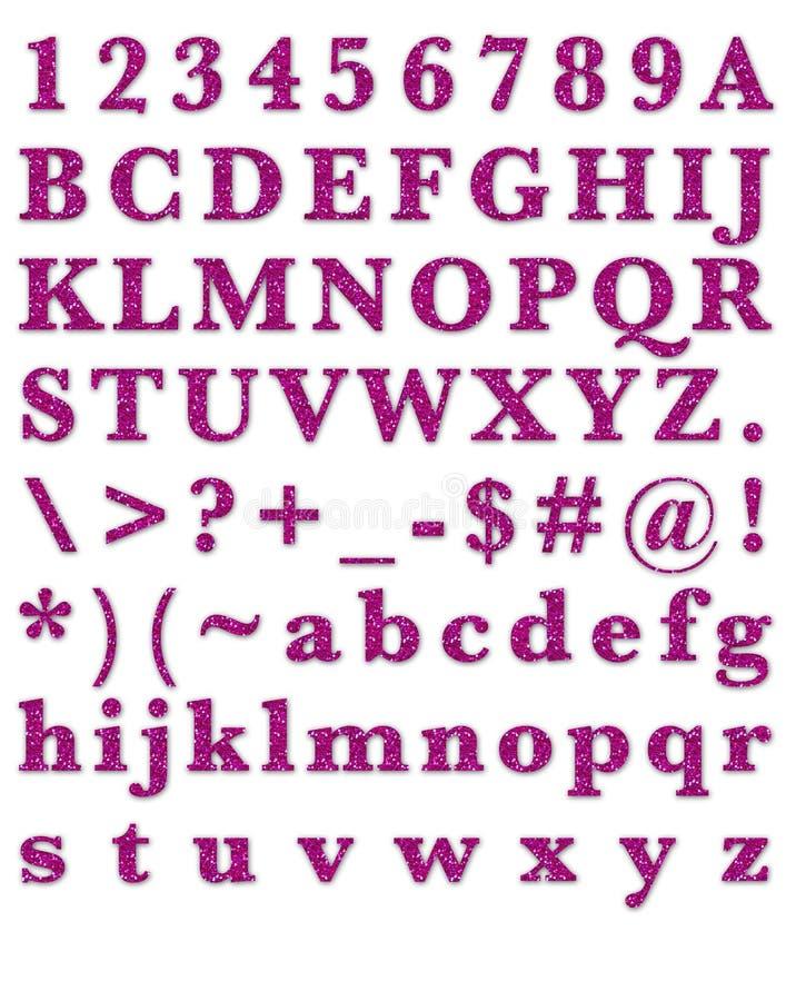 Download Fashion Glitter Pink Alphabet Stock Illustration - Illustration of fashion, fashionable: 29782398