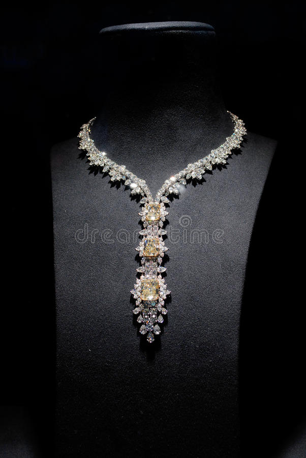 Fashion gorgeous Diamond necklace royalty free stock photography