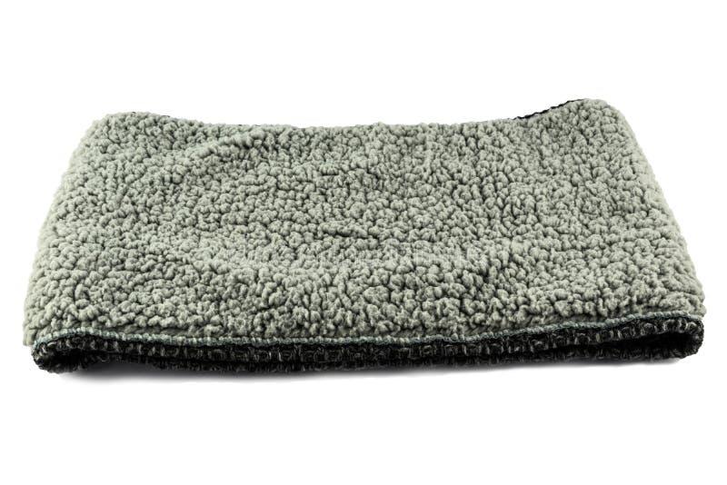Fashion grey scarf for clothing isolated. On white background royalty free stock photos