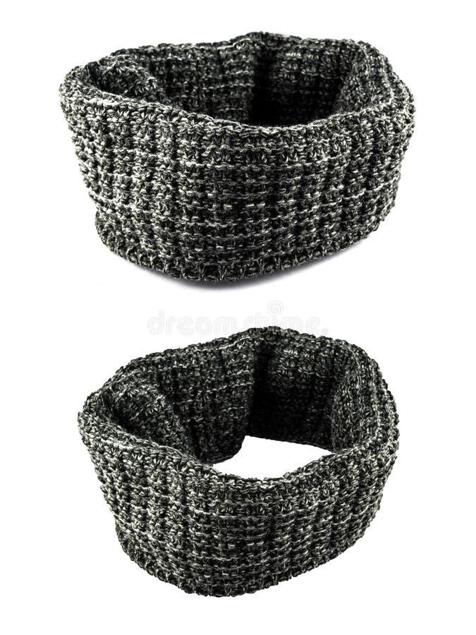 Fashion grey scarf for clothing isolated. On white background stock image