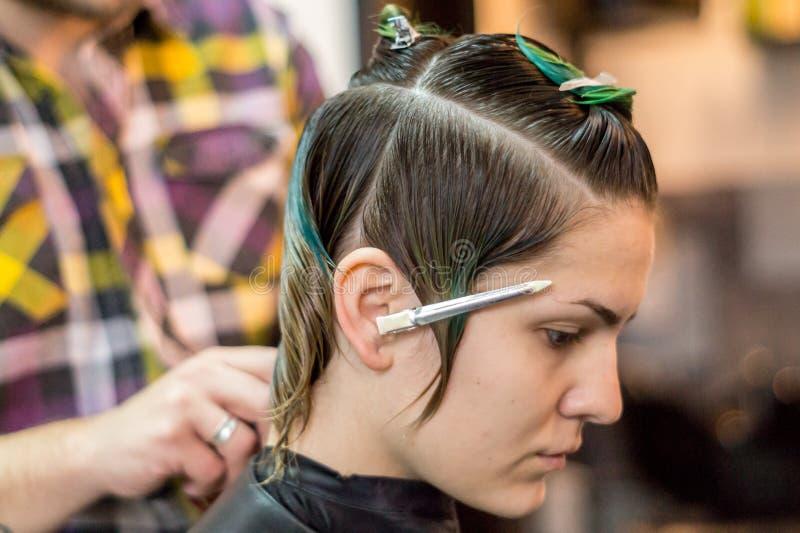 Fashion Haircut stock photography
