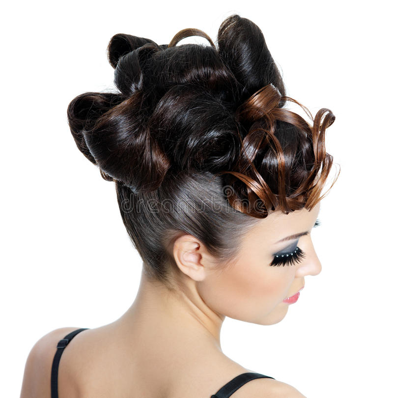 Download Fashion hairstyle stock image. Image of attractive, background - 18440911