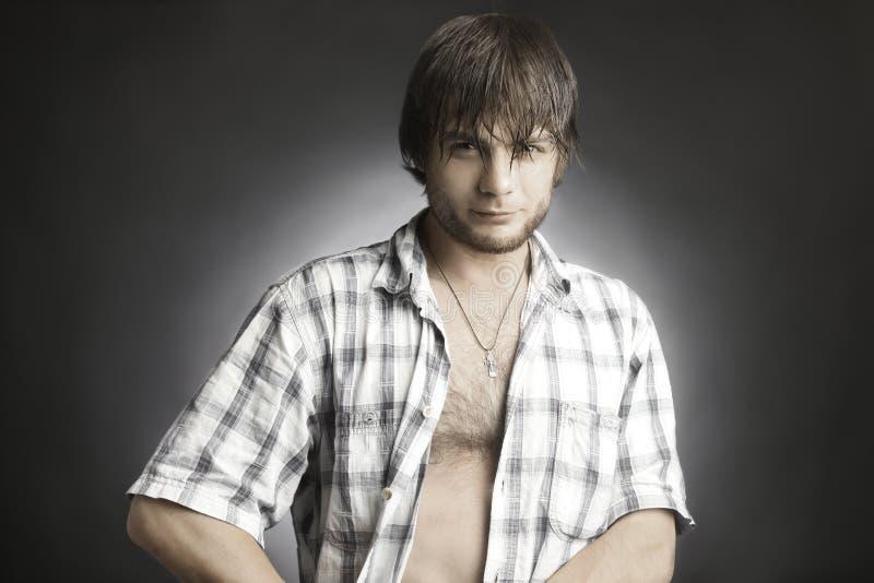 Download Fashion handsome man stock photo. Image of macho, beard - 26085936