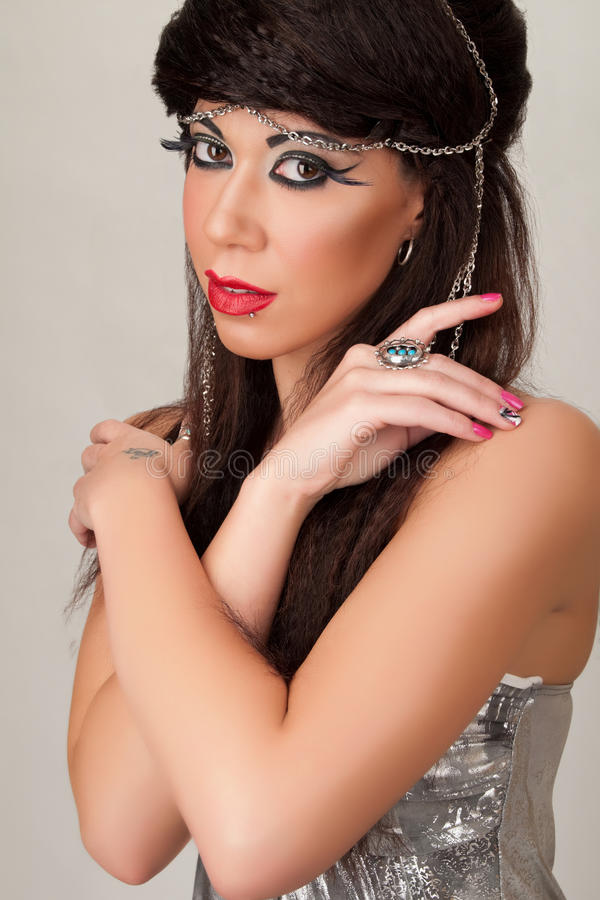 Fashion Headshot. Of young woman stock image