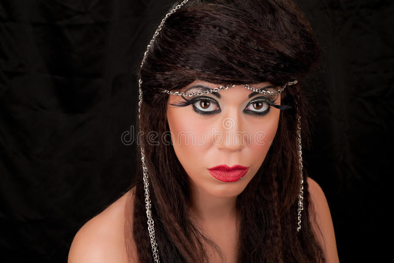 Fashion Headshot. Of young woman stock photos