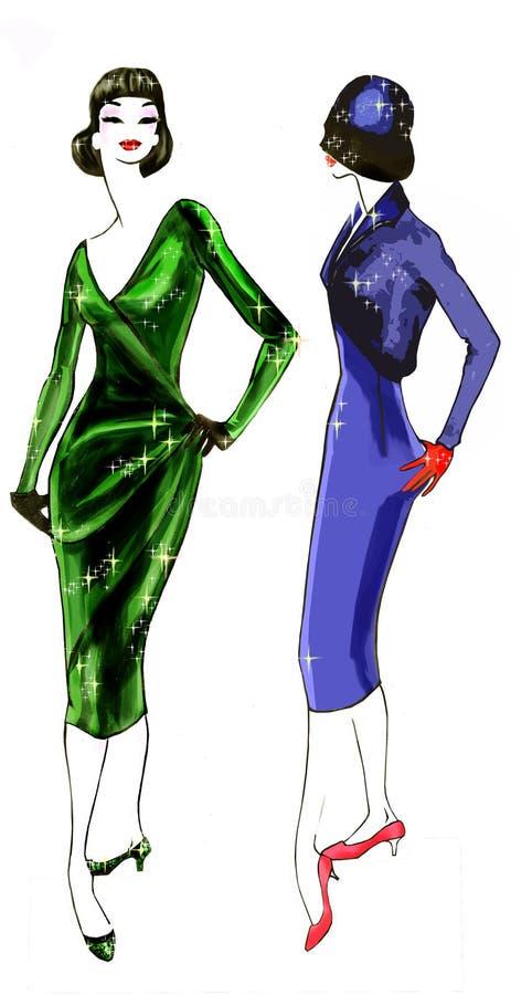Fashion History: 1950 Model stock image