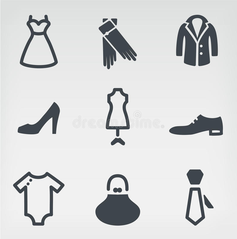 Download Fashion icon set stock vector. Image of female, clothing - 29375431