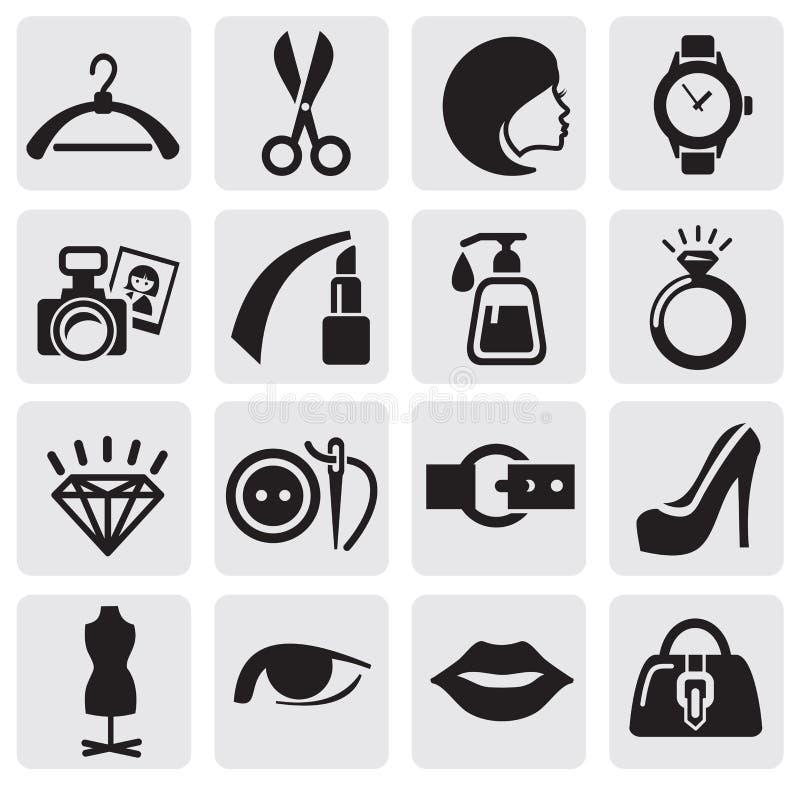 Download Fashion icons stock vector. Image of fashion, feminine - 25584426