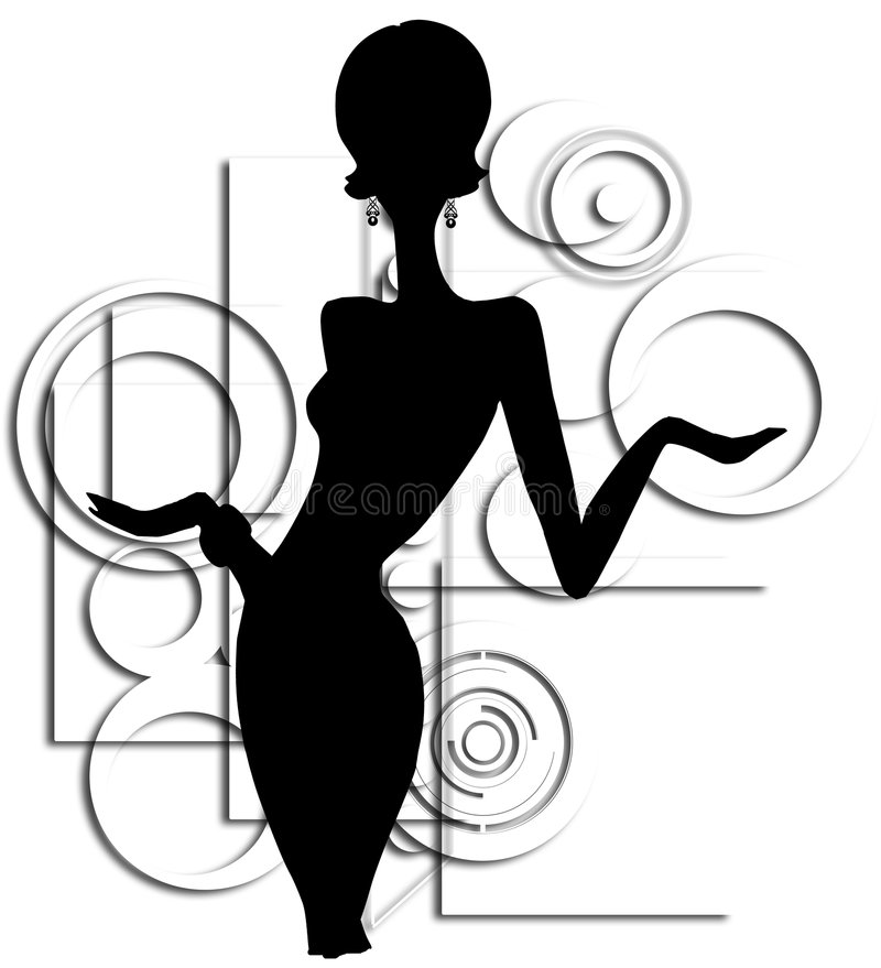 Download Fashion illustration stock illustration. Image of black - 5644655
