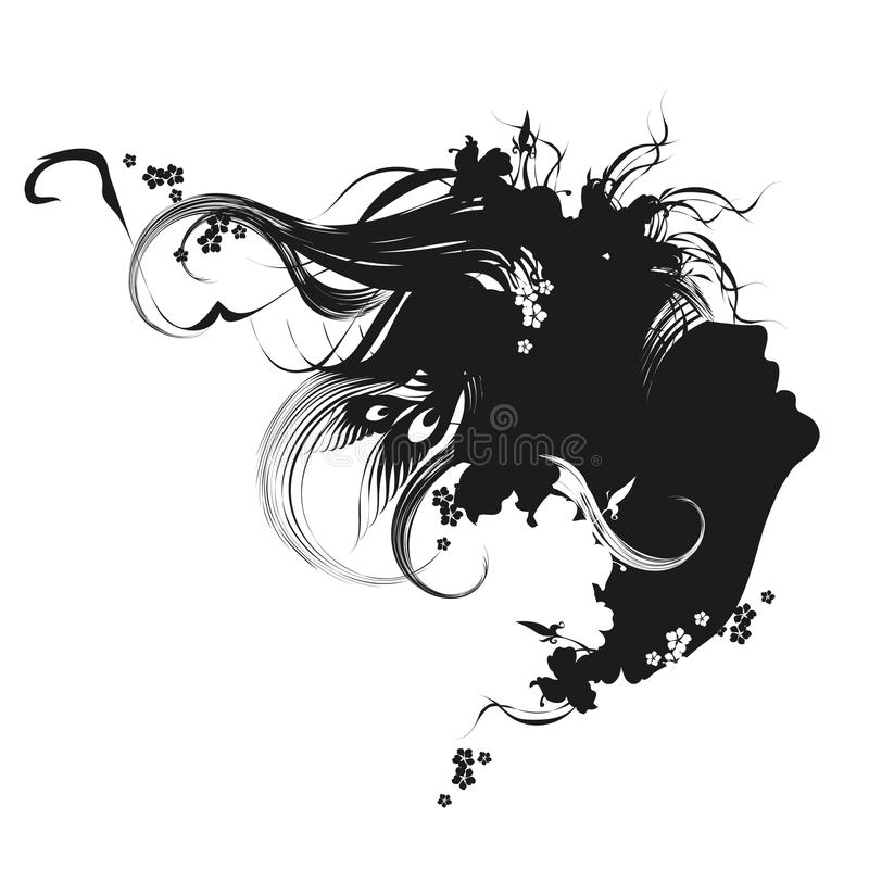Download Fashion Illustration Black And White Stock Vector - Image: 24503017
