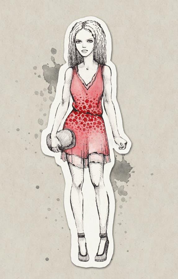 Line Art Fashion : Fashion illustration royalty free stock photo image