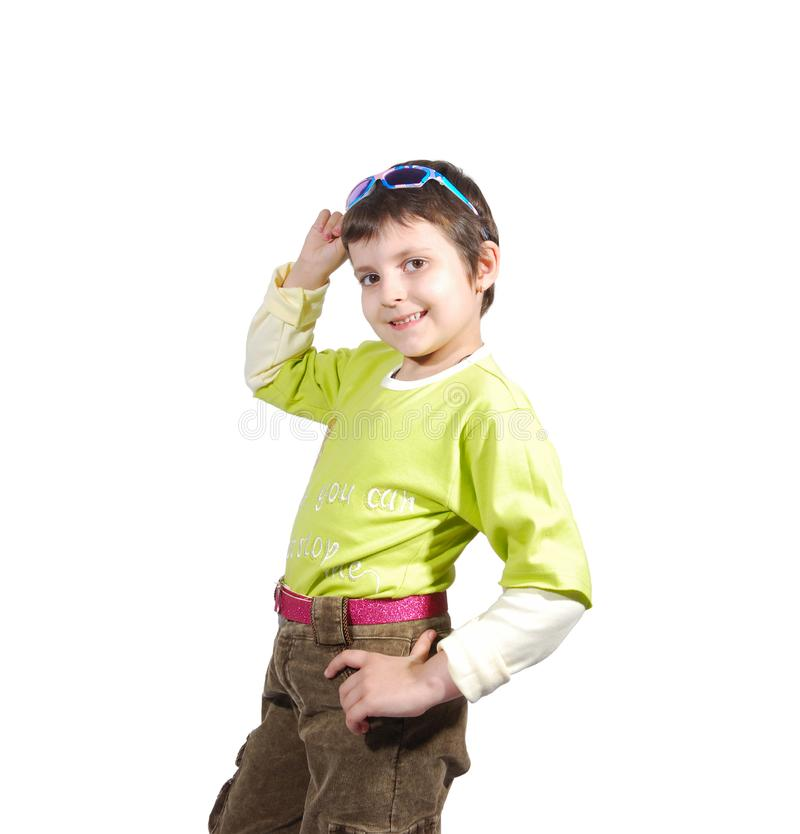 Fashion kid royalty free stock photography