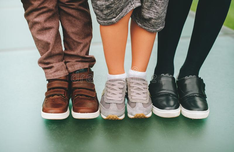 Fashion kids shoes royalty free stock photos
