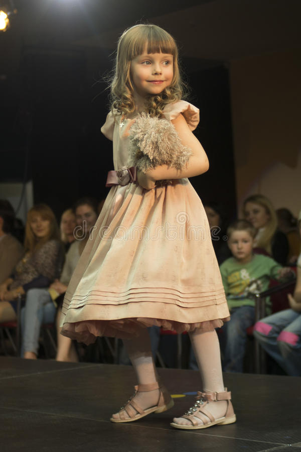 Fashion kids show in Minsk, Belarus royalty free stock photos