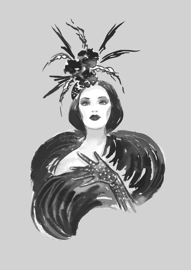 fashion kvinnan vektor illustrationer