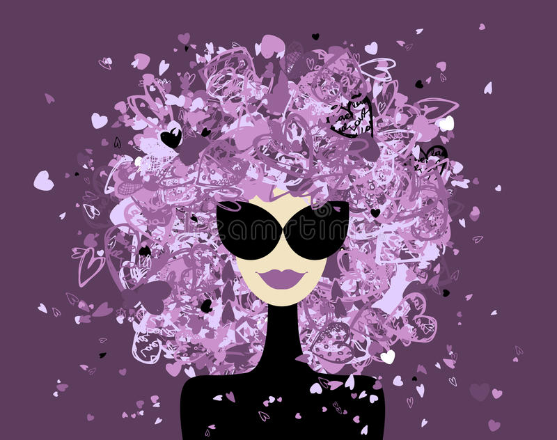 Fashion kvinnaståenden för din design stock illustrationer