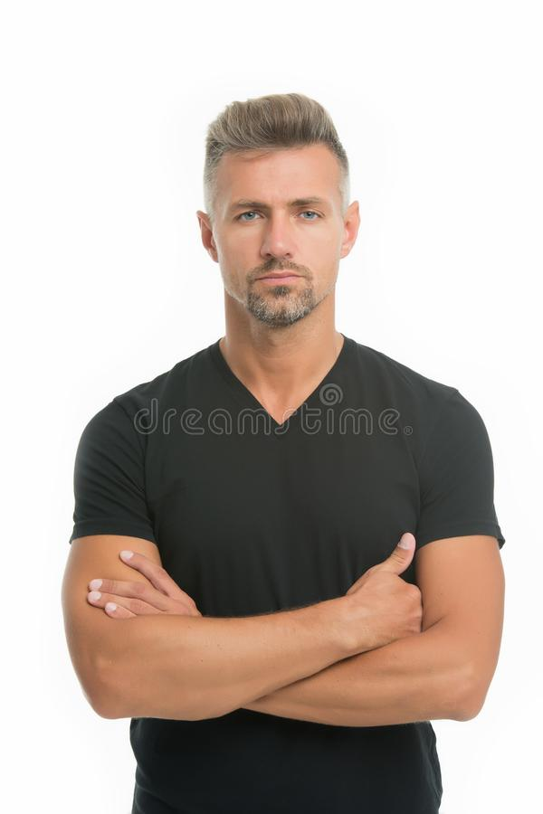 Fashion for daily life. Fashion concept. Handsome fashion model. Feeling casual and comfortable. Menswear and. Fashionable clothing. Man looks handsome in stock photo