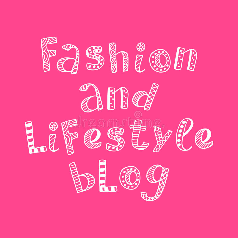 Fashion and lifestyle blog modern lettering in ethnic scandinavian style vector illustration