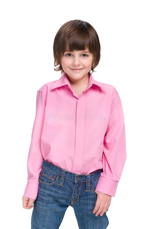 Fashion little boy stock photos