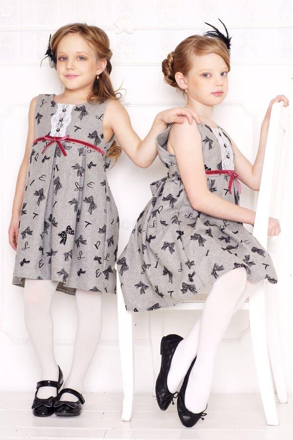 Fashion Little Girls Stock Photo
