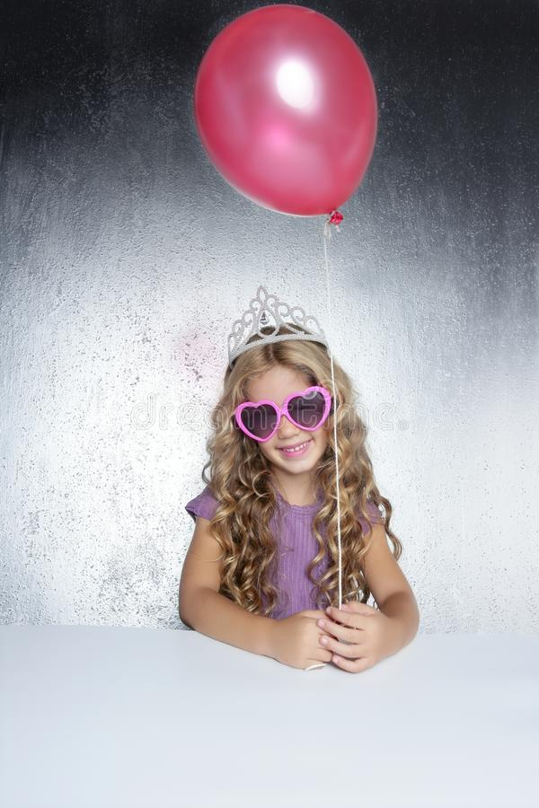 Fashion Little Party Girl Red Balloon Royalty Free Stock Image
