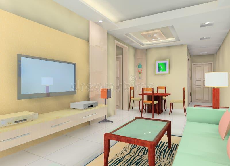 Download Fashion living room stock illustration. Illustration of modern - 14835585
