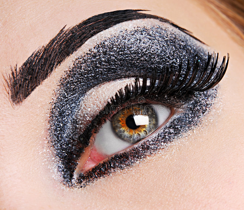 Fashion make up of eye. There is fashion make up of eye royalty free stock photo