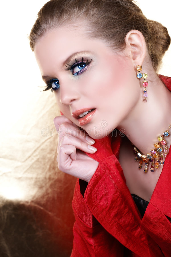 Download Fashion Make-up Woman In Red Stock Images - Image: 5304344