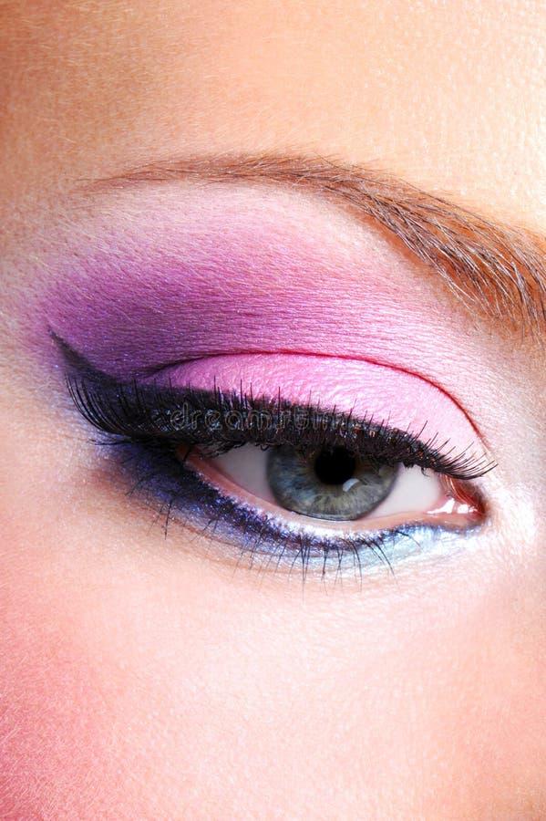 Fashion Makeup Of A Female Eye Royalty Free Stock Photo