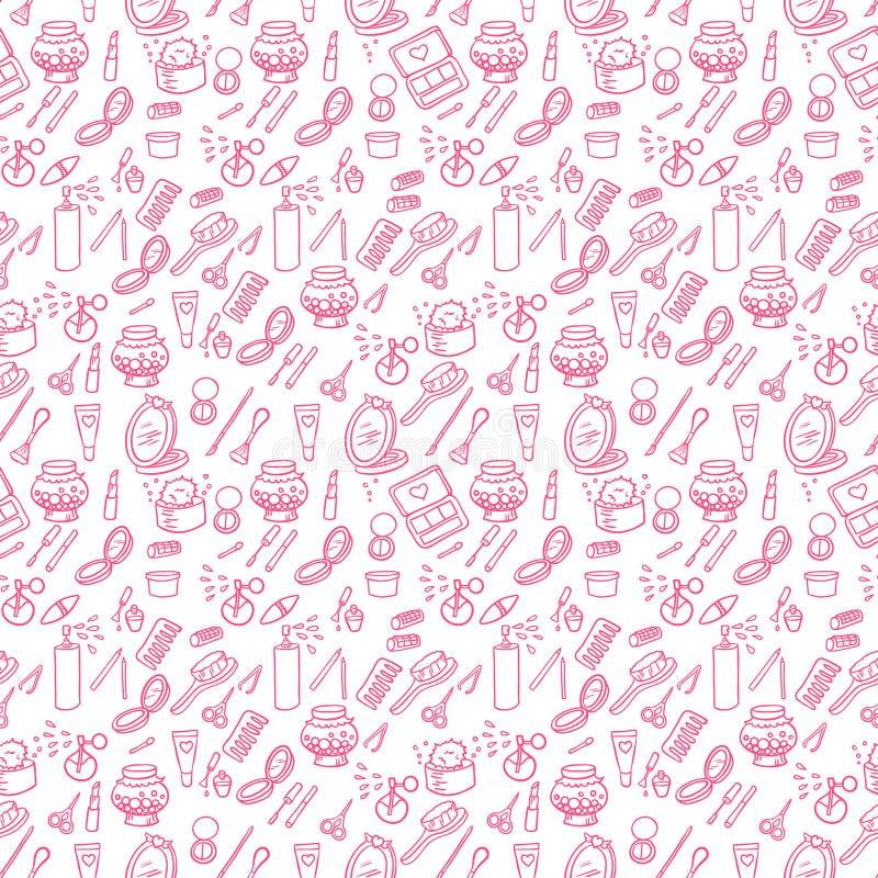 Download Fashion makeup pattern stock illustration. Image of brush - 50376089