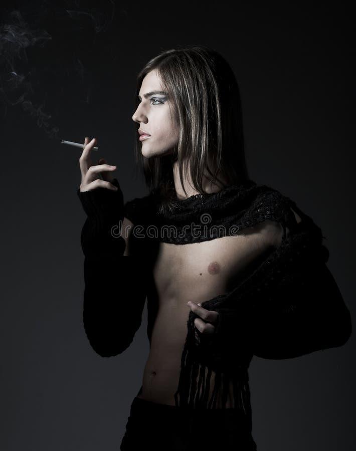 Download Fashion male smoking a cig stock image. Image of aspirations - 6209887
