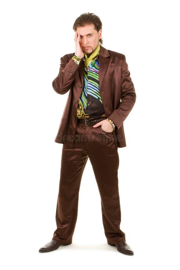 Fashion man. Isolated on the white background stock photos
