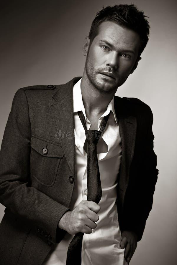Fashion man model stock image