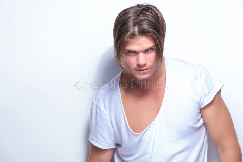Fashion Man With Two Sided Hairdo Stock Photos