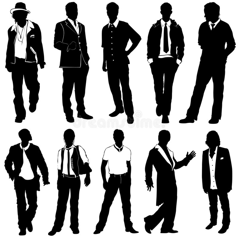 Fashion man vector royalty free illustration