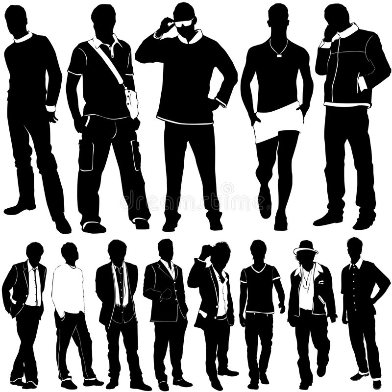 Fashion men vector stock illustration