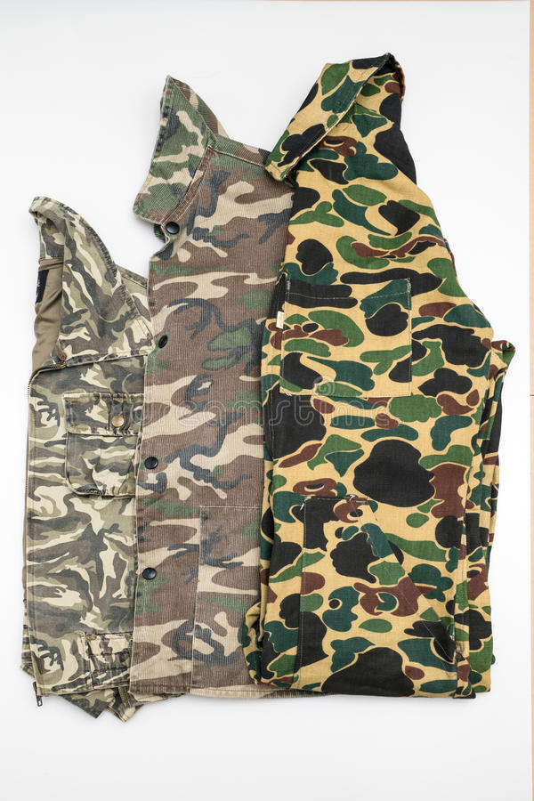 Fashion military camo jacket stock photography