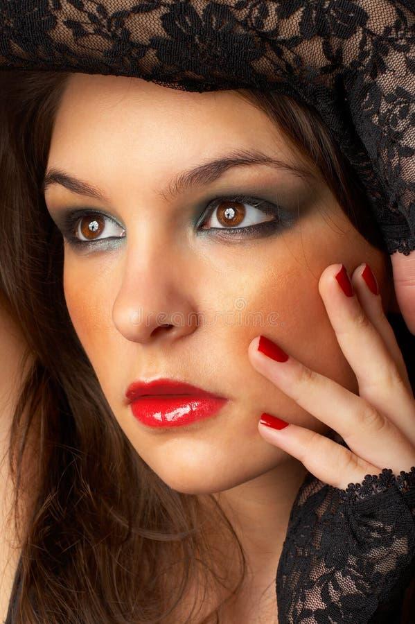 Fashion Model. Beautiful Fashion Model shot in studio royalty free stock images