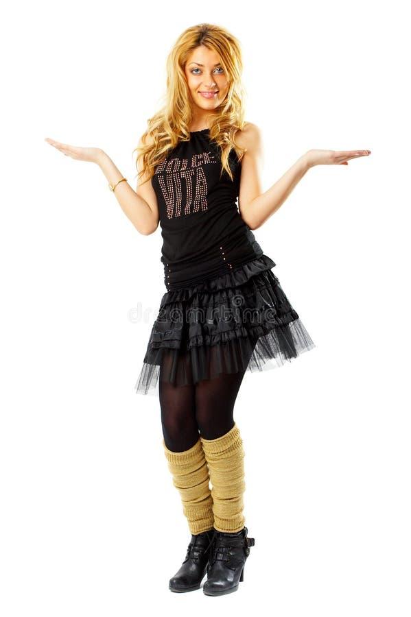 Fashion Model. Beautiful Fashion Model shot in studio over white background stock image