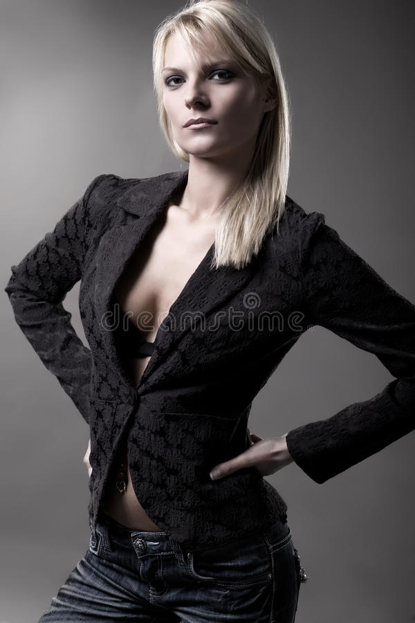 Download Fashion model stock image. Image of hair, mysterious, belly - 9708061