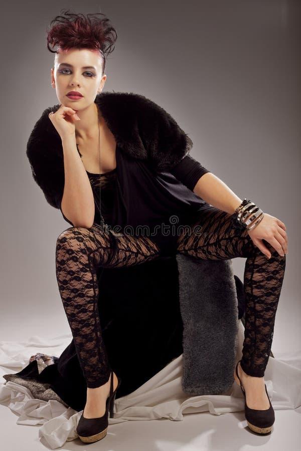 Fashion model with attitude stock image
