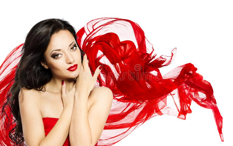 Fashion Model Beauty Portrait, Asian Woman Face Makeup royalty free stock photography