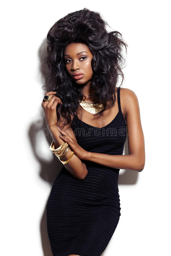 Fashion Model With Big Hair royalty free stock photo