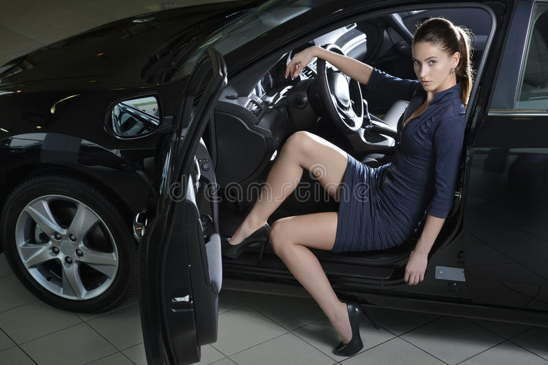 Fashion Model In The Car Stock Photo Image Of Action - 31445962-6671