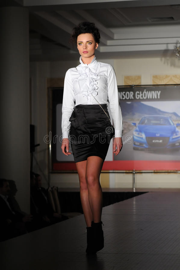 Download Fashion Model On The Catwalk Editorial Stock Photo - Image: 17074353