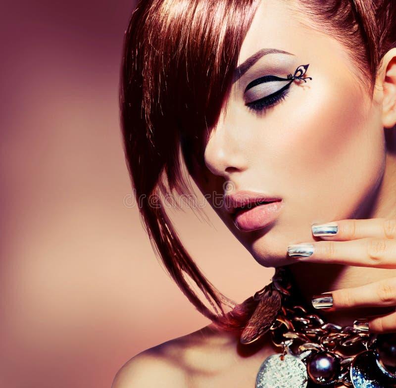 Fashion Model Girl Portrait royalty free stock photos